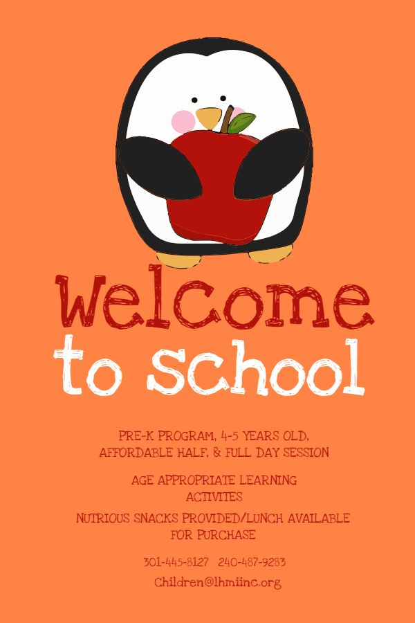Cute Welcome To School Poster Design Template