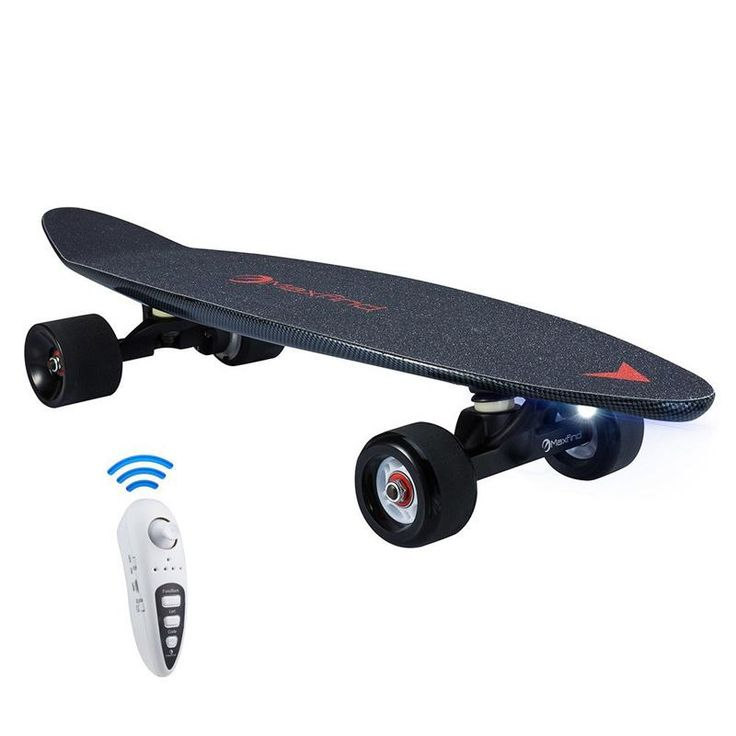 Max C 27 Inch Black Electric Skateboard With Samsung Battery Remote Control