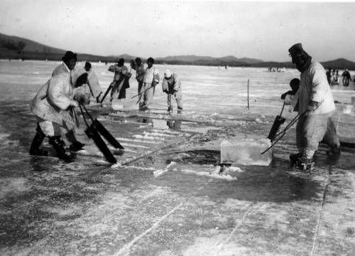 Korean men harvesting ice. http://digitallibrary.usc.edu/cdm/ref/collection/p15799coll46/id/1546