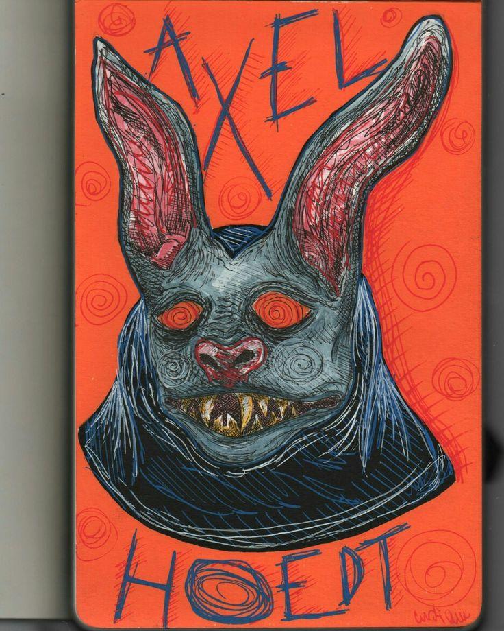 Axel Hoedt illustration drawing from sketchbook by @distrofiamuscolare  #sketchbook #bat #illustration #axelhoedt