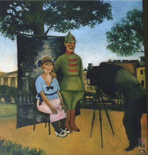 "АДЛИВАНКИН С. Я. ""Перед отъездом на фронт"" 1922"