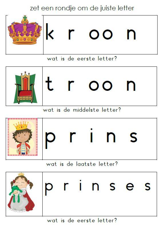 Zet een rondje om de juiste letter. [Juf Maike]