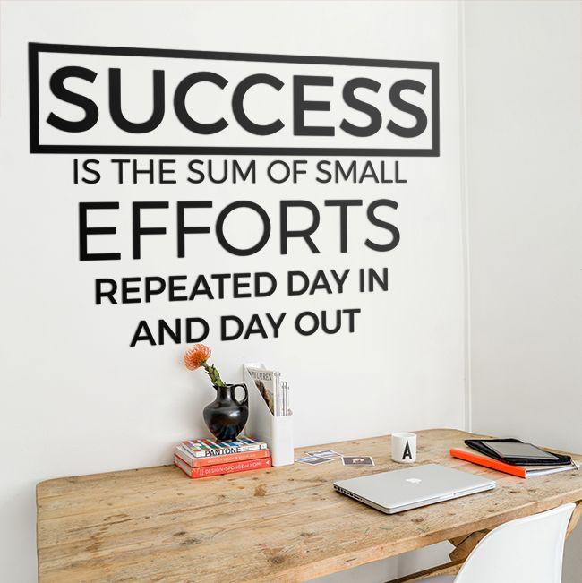 Success is the sum of small efforts! #success #napis #na #ścianę #motywacja #3D #sukces #nowoczesna #modern #design #dom #salon #sypialnia