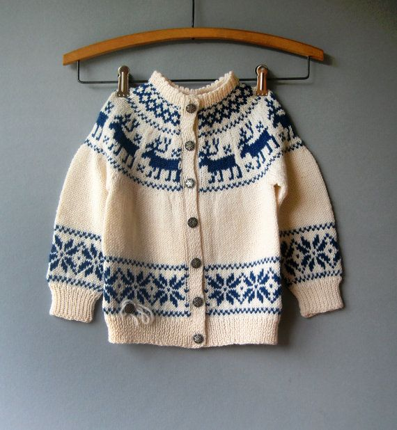 Vintage Child's Norwegian Wool Sweater