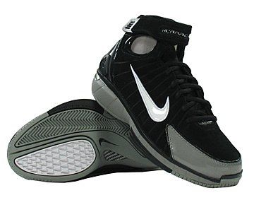 Kobe Bryant basketball shoes picture: Nike Air Zoom Huarache 2K4 black and grey