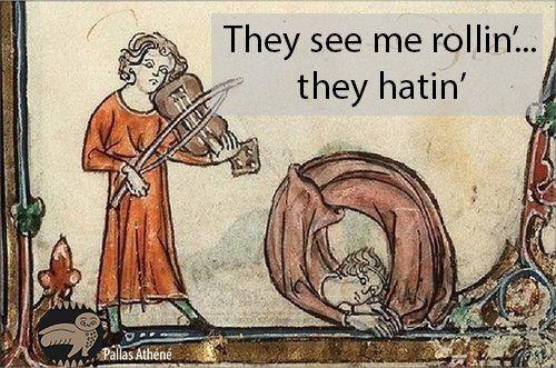 They see me rollin' They hatin' #DailyPallasMeme Pallas Athéné (@PallasAtheneYT)   Twitter