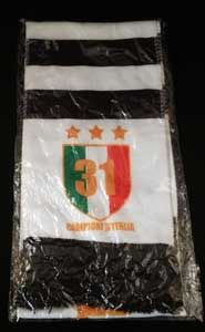 Campione d'Italia 31 Scarf from Juventus Football Club. Great supporters scarf.
