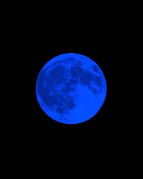 Moon, Blue, Blue Moon, View, Great, Beautiful