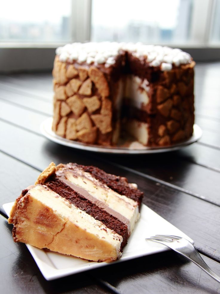 S'mores Cheesecake Cake . Holy cow!