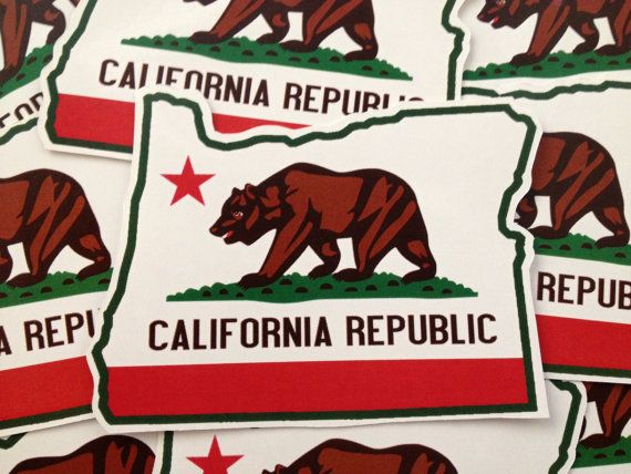 California Republic of Oregon Sticker by JamaicanMeArt on Etsy, $2.00