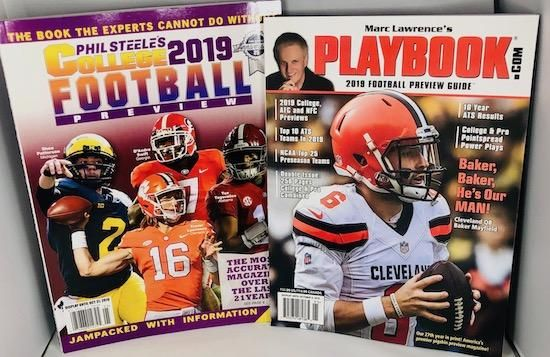 Double Deal! Phil Steele's 2019 College Football & Marc Lawrence's 2019 Playbook Football Preview Guide.