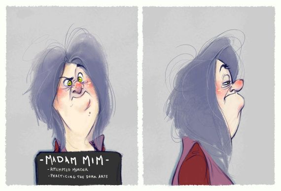 Villain Mugshots Madam Mim by HaaappyAccidents on Etsy ||| Disney, The Sword in the Stone I love this!!!!
