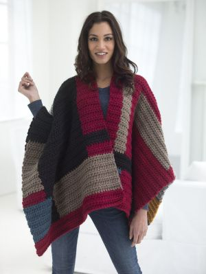 Image of Petrona Poncho good in white for padme battle shawl.