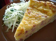 сырный пирог с колбасой
