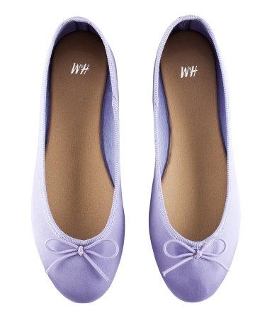 purple satin ballet slippers {Silver & Purple : for Sony ...