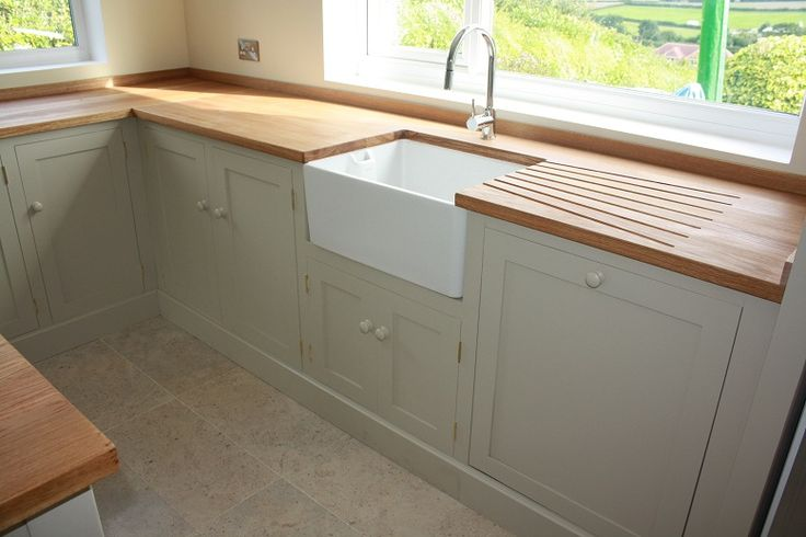 cabinets color - FB stony ground (also love the built-in drying rack and sink)