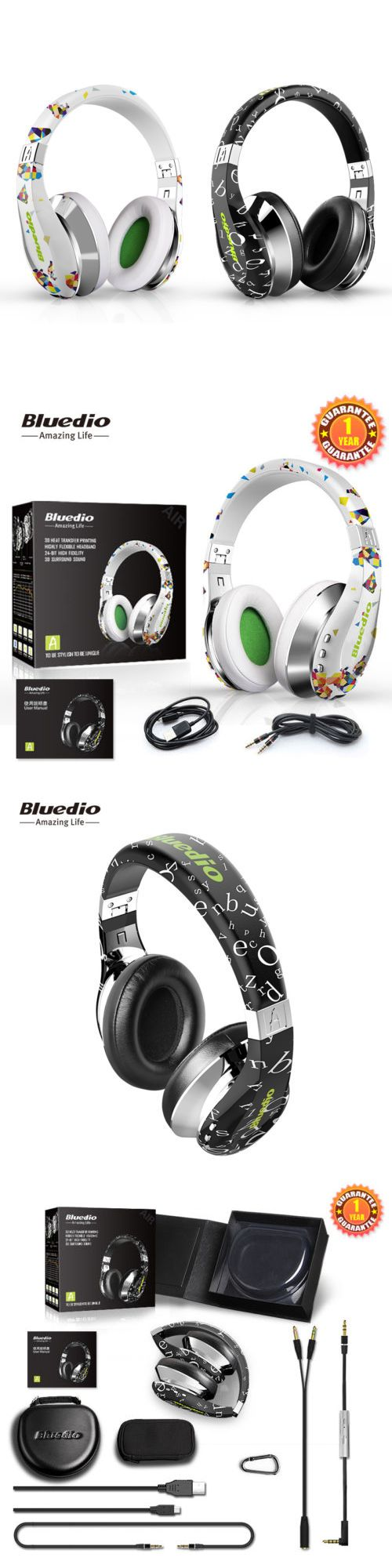 Headphones: Bluedio A(Air) Bluetooth4.1 Stereo Headsets Wireless Headphone With Built-In Mic BUY IT NOW ONLY: $49.49