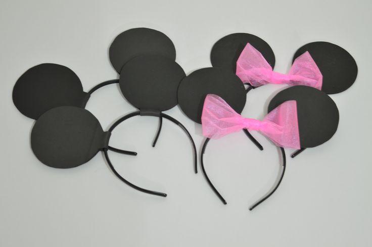 Orejas Minnie y Mickey Mouse   #orejasminnie #cumpleaños #minnie #mickey #birthday