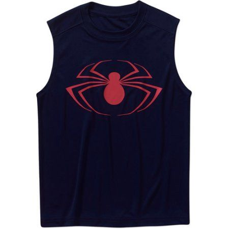 Marvel Spiderman Boys Poly Tank Top, Multicolor
