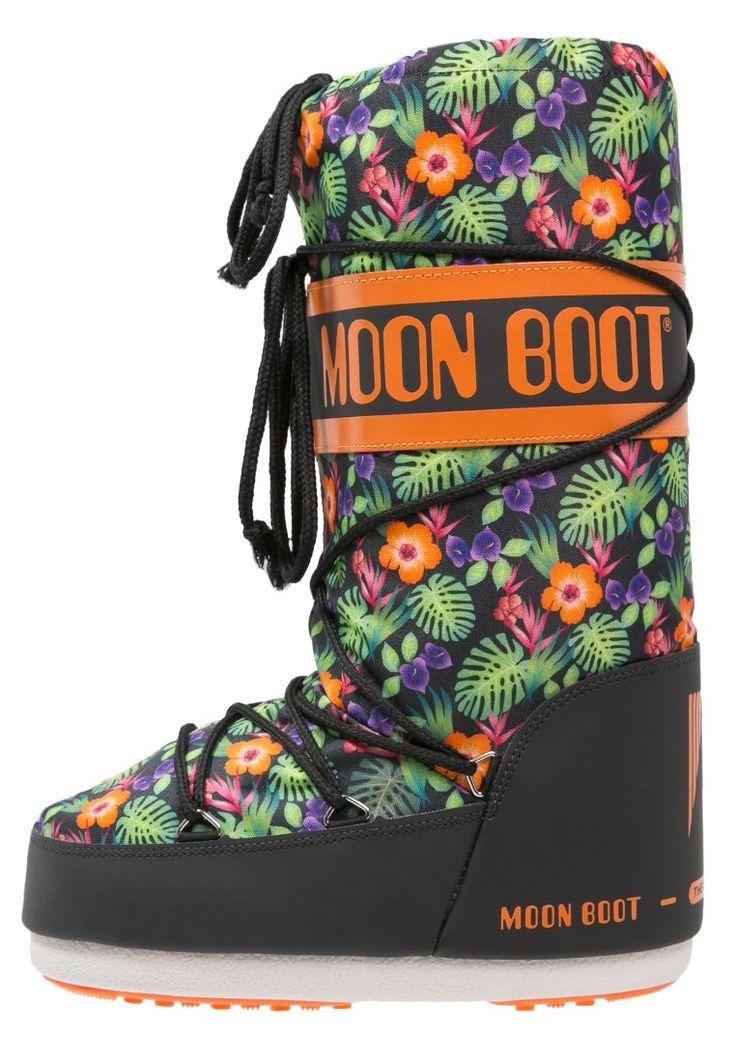 Moon Boot Śniegowce black/orange