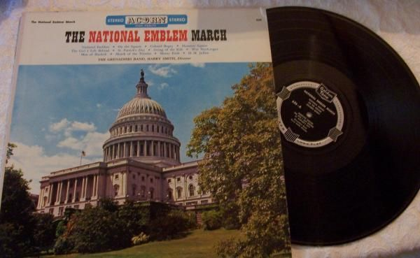 The Grenadiers Band The National Emblem March LP 33 Acorn Records 626 big band