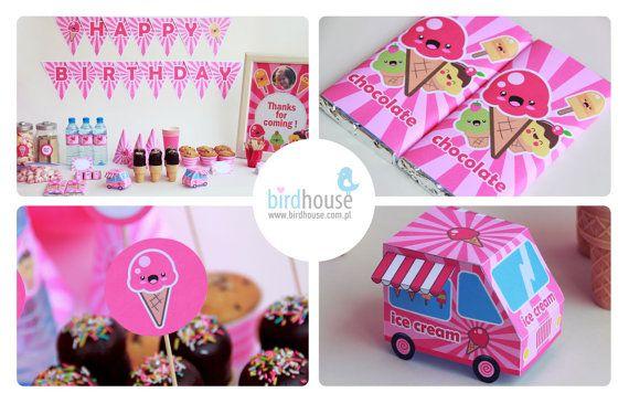 Ice Cream Party Decorations Ice Cream Birthday by BirdhouseStore