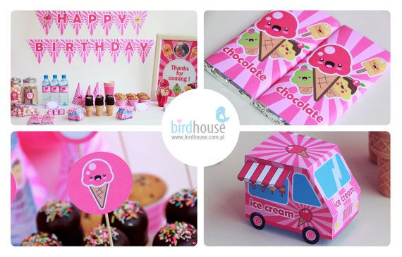 Ice Cream Party Decorations Ice Cream Birthday by BirdhouseStore