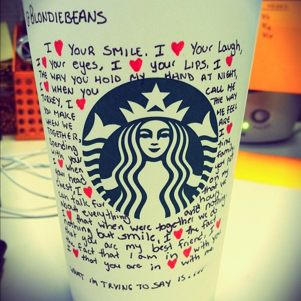 I ♥ HEART Starbucks All February! Http://www.1YearOfMyLife.wordpress