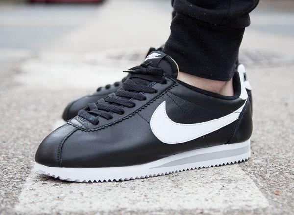 04d022a618cbd6 Nike Cortez Leather PRM Black White QS post image