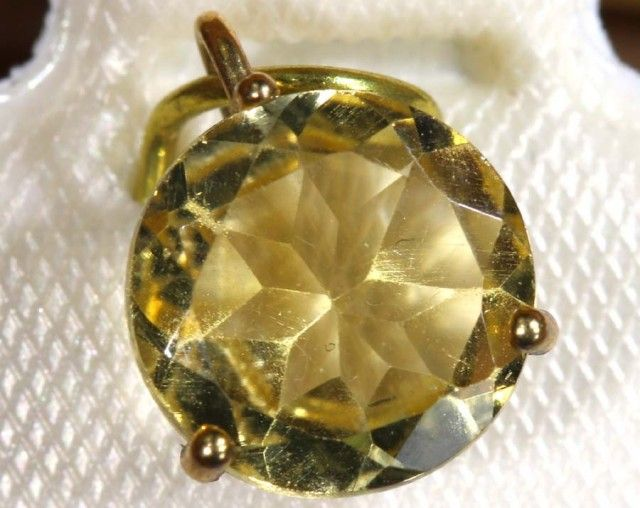 3.0 CTS CITRINE PENDANT SG-42  citrine pendant , silver pendant , gemstone pendant