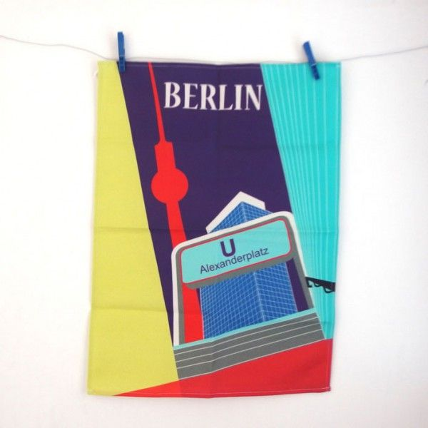 Berlin * Alexanderplatz * Geschirrtuch - ein stylisches Berlin Souvenir von s.wert  http://www.s-wert-design.de/product/geschirrtuch-alexanderplatz/