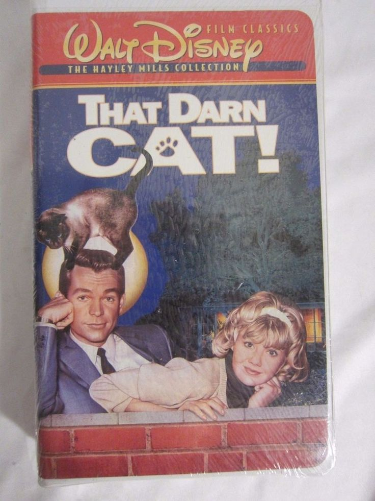 New Sealed Walt Disney's That Darn Cat Hayley Mills Dean Jones VHS Tape -Movie