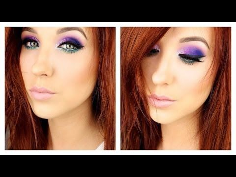 jaclyn hill purple hair. jaclyn hill - purple and teal electric palette tutorial hair s