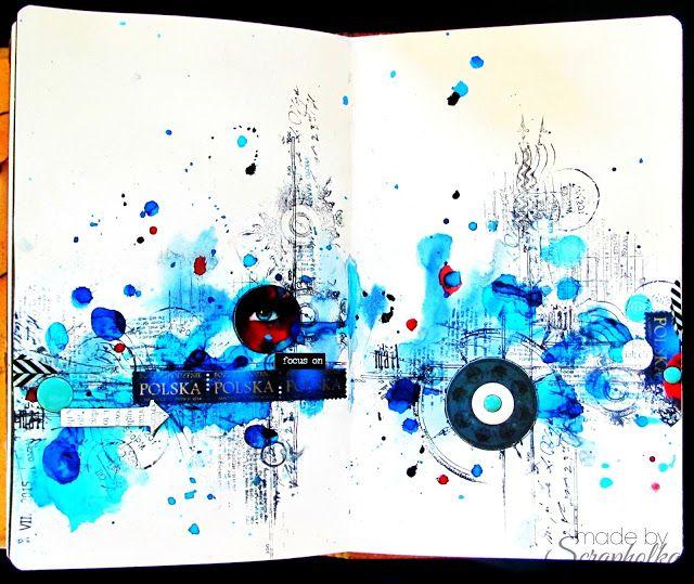 Scrapholka: Art Journal spread Post&Postage