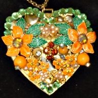 Flowery Heart Necklace, $45