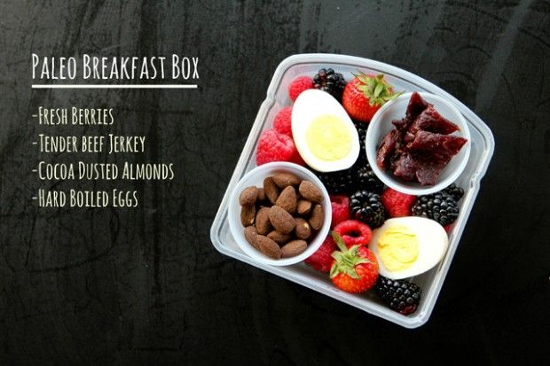PALEO BENTO BOX – bypass empty carbs in the morning and go for what fuelled a hungry caveman! It'll hold you right through 'til lunch – sugary cereals,  refined breads, muffins and rolls won't take you half that far!