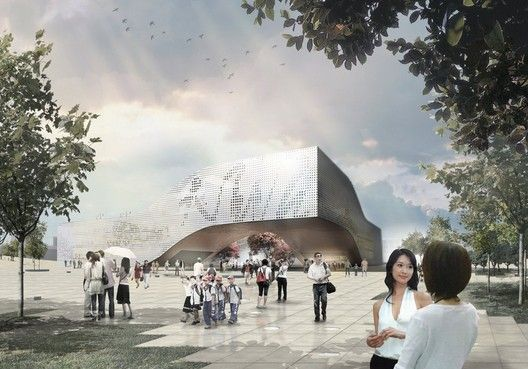DQZ Cultural Center Proposal / Holm Architecture Office (HAO) + AI,Courtesy of Holm Architecture Office + AI
