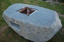 Feuertisch aus Stein- mit Gas aus Gasflasche betrieben, incl Gasbrenner mit Zubehoer