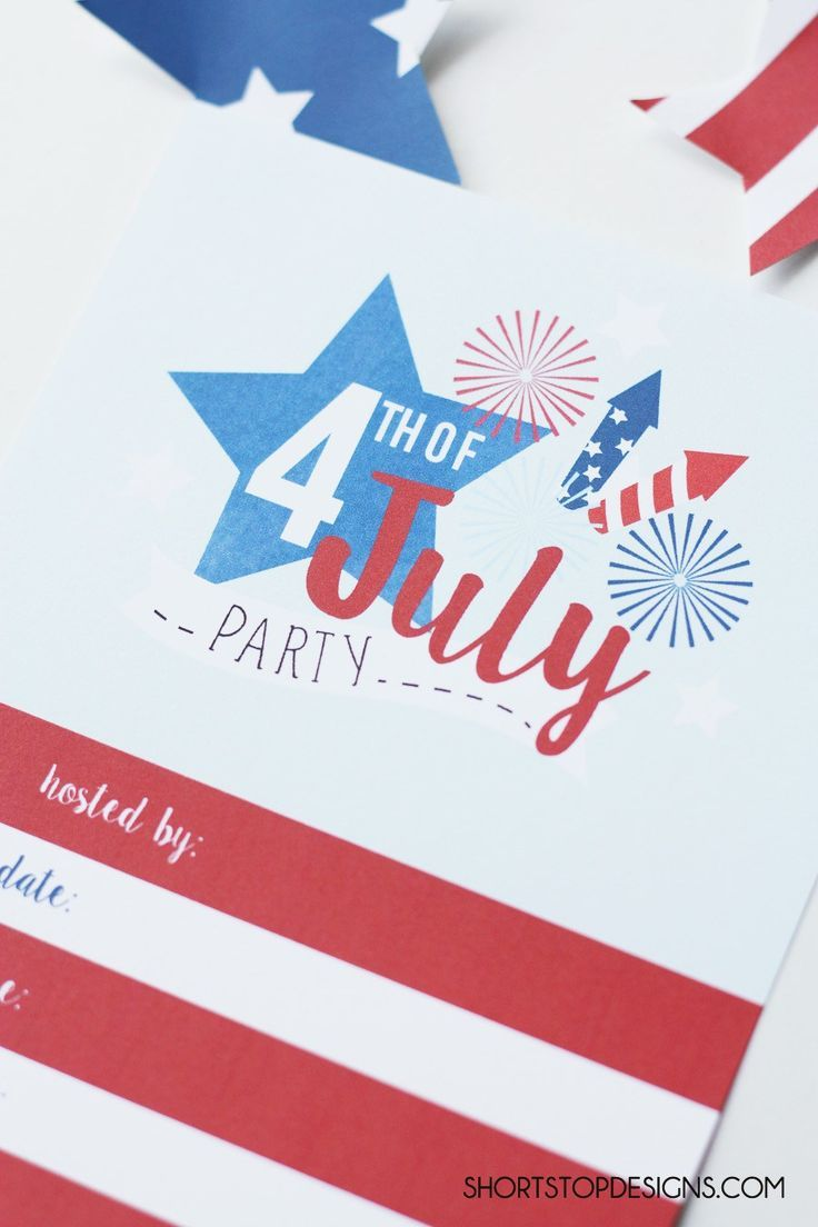 4TH OF JULY INVITATION PRINTABLE #freeprintable #4thofjulyinvitation