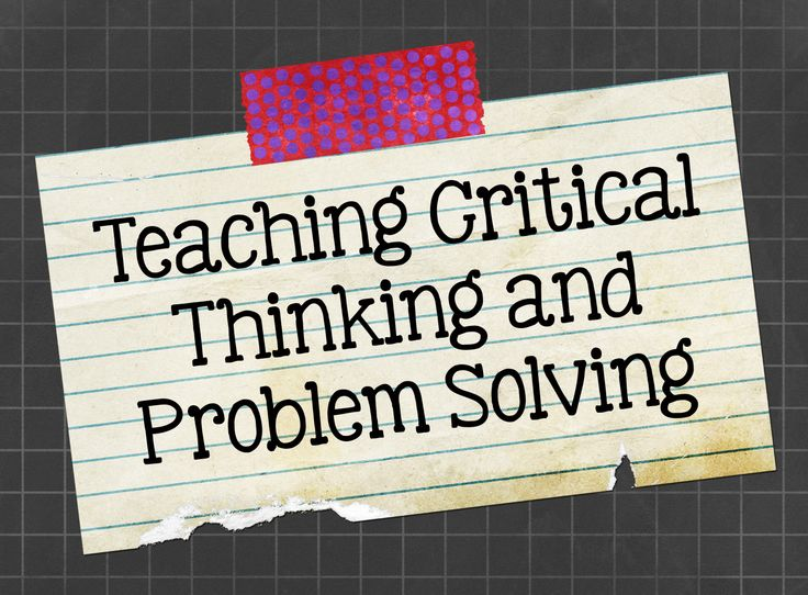 critical thinking skills teaching resources Teaching critical thinking skills is a necessity with our students because they're crucial skills for living life as such, every teacher is looking for interesting ways to integrate it into classrooms but what exactly are critical thinking skills, and what are some of the best strategies .