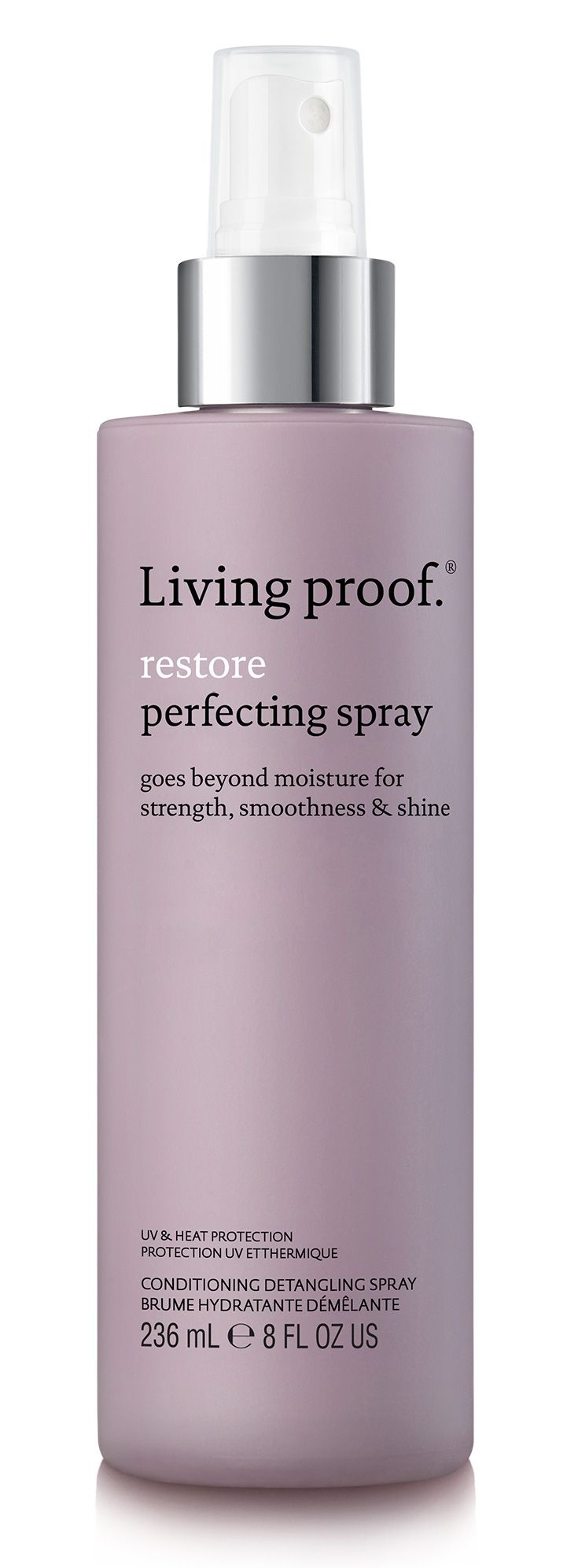 Say goodbye to dry, damaged hair. Restore Perfecting Spray goes beyond moisture to give you strong, smooth and shiny strands—fast.