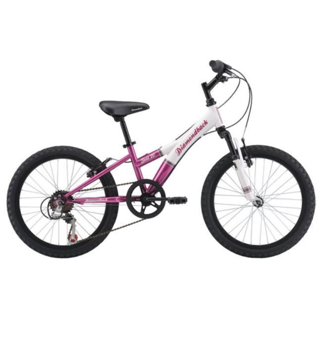 "20"" Girls Mountain Bike 7 Speed Stylish Smooth Riding Off Road Trail PINK/WHITE #Dback"