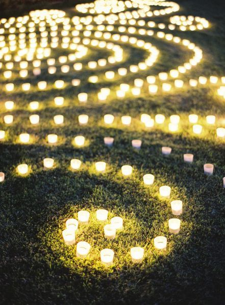 swirls of candlelight - so cool!