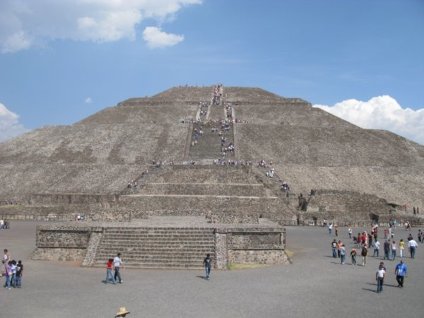 Teotihuacan Pyramids near Mexico City...Pyramid Of The Sun