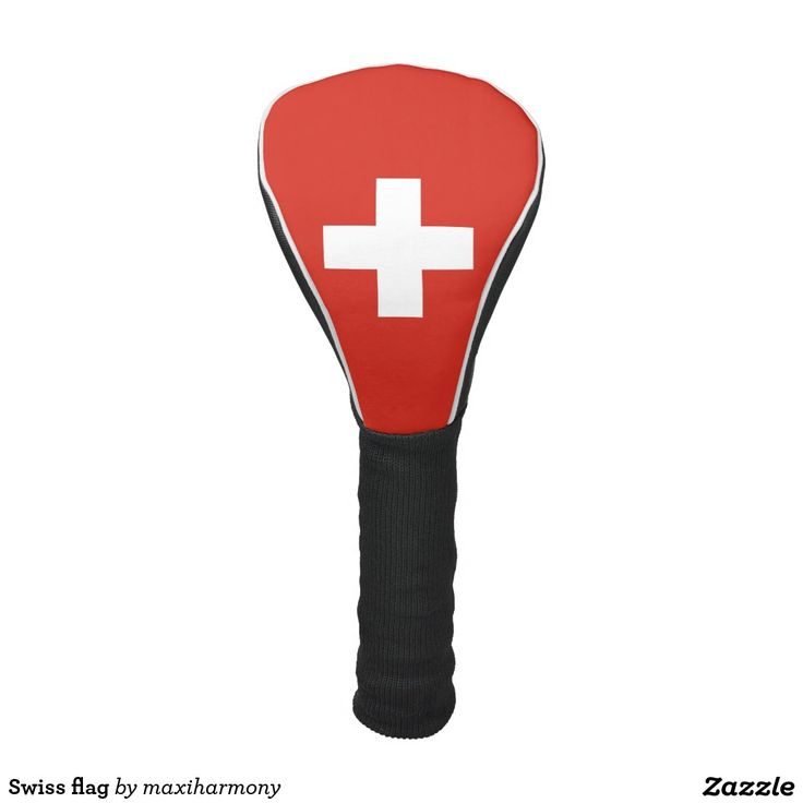 Swiss flag golf head cover