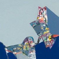 Abstraktní umění abstraktní umělec Vassil Stoyev