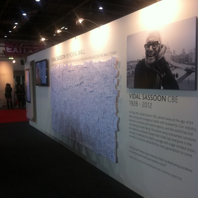 Vidal Sassoon tribute wall at Salon International 2012