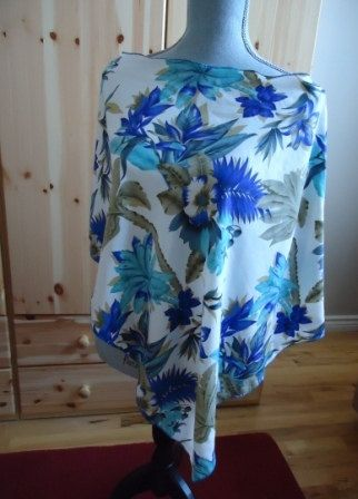 Poncho, Swimsuit Cover Up, Tropical Print, SALE by UchiWraps on Etsy