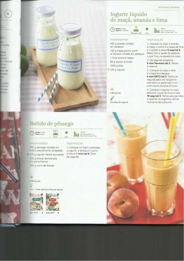 Iogurte líquido de maçã e ananás