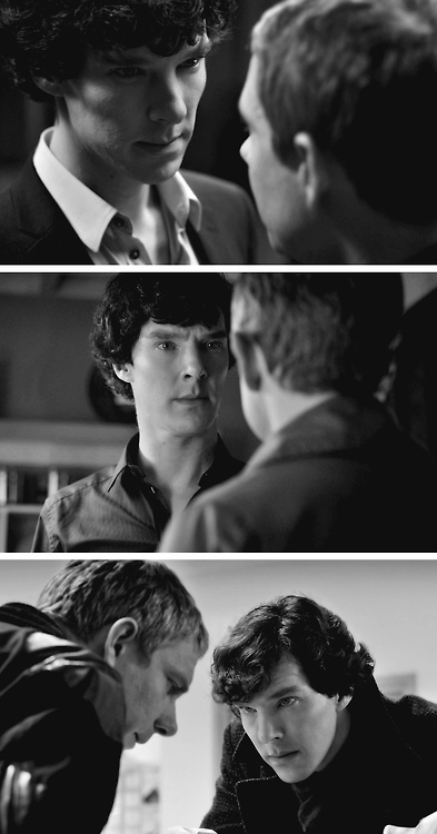 seriously this pinboard has a thousand people following it i can't even process this information so i'm just going to stare at you all intently yet adoringly as though we were sherlock and john. (<3)